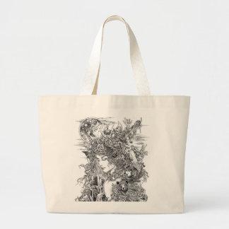Gaia Dreams of Earth Large Tote Bag