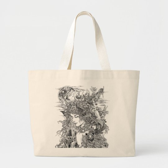 Gaia Dreams of Earth Large Tote Bag
