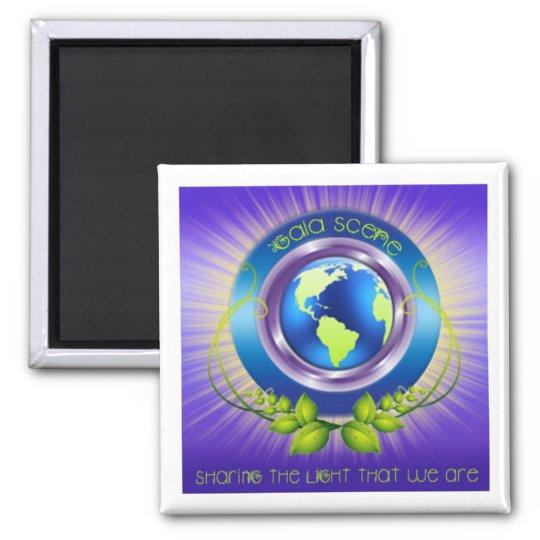 Gaia Scene Square Refridgerator Magnet