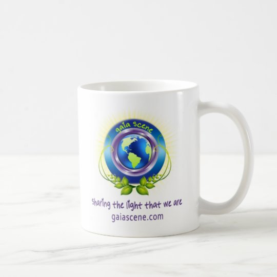 Gaia Scene White Logo Coffee Mug