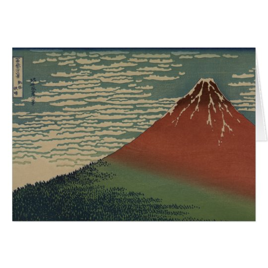 Gaifū Kaisei by Hokusai Katshushika Card