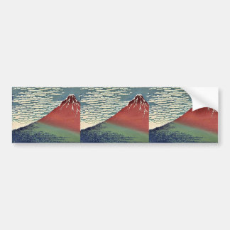 Gaifu kaisei by Katsushika, Hokusai Ukiyoe Bumper Sticker