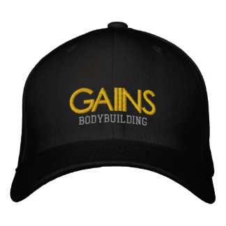 GAIINS BODYBUILDING APPAREL Embroidered Hat.