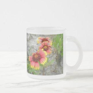 Gaillardia Blanket Flower Wildflower Frosted Glass Mug