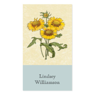 Gaillardia Sunflower Botanical Personalized Business Card Templates