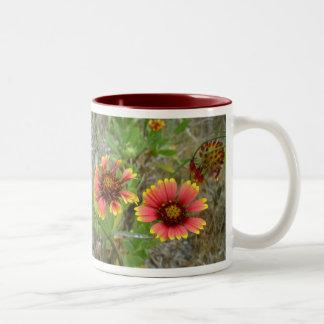 Gaillardia Wildflower (Blanket Flower) Tote Bag Two-Tone Mug
