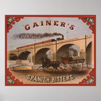 Gainer s Spanish Bitters Poster