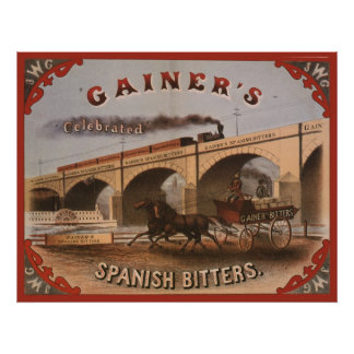Gainer's Spanish Bitters Poster