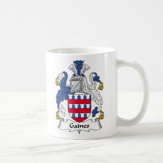 Gaines Family Crest Basic White Mug