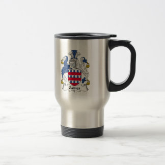 Gaines Family Crest Stainless Steel Travel Mug