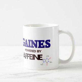 Gaines powered by caffeine mug