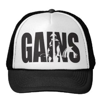"GAINS - ""Body building"" Motivational Cap"