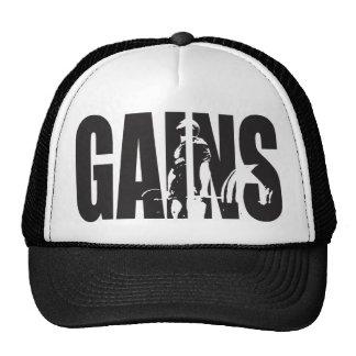 """GAINS - """"Body building"""" Motivational Cap"""
