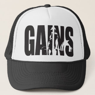 "GAINS - ""Body building"" Motivational Trucker Hat"