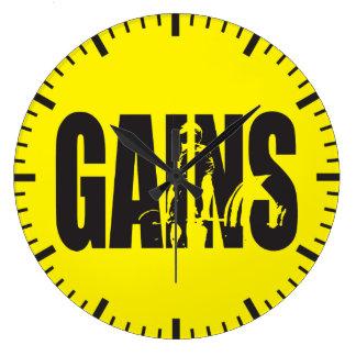"GAINS - ""Body building"" Motivational Wallclocks"