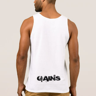 """GAINS"" custom muscle shirt"
