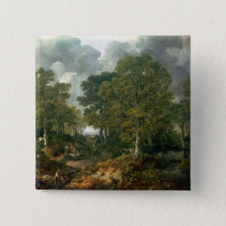 Gainsborough's Forest , c.1748 15 Cm Square Badge