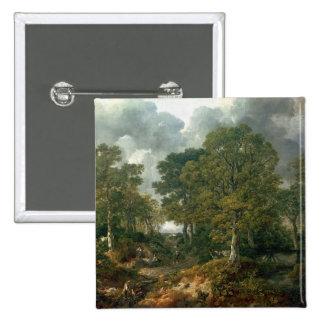 Gainsborough's Forest , c.1748 15 Cm Square Badge