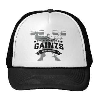 Gainz fitness workout clothing cap