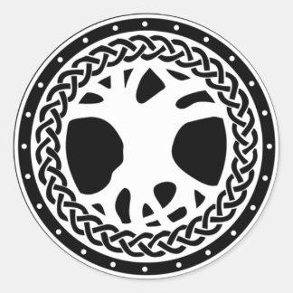 Gaiscioch White Emblem Round Sticker