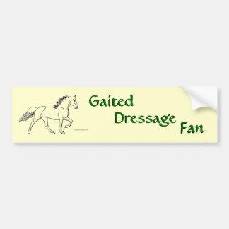 Gaited Dressage Fan Bumper Sticker