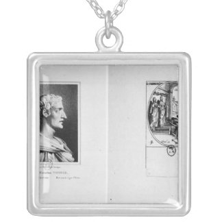 Gaius Cornelius Tacitus  engraved by Julien Silver Plated Necklace