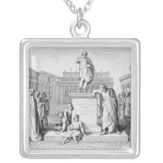 Gaius Gracchus Weeping Before his Father's Silver Plated Necklace