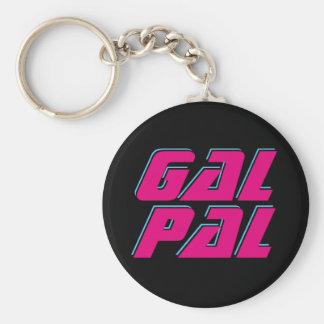 Gal Pal Basic Round Button Key Ring