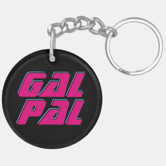 Gal Pal Double-Sided Round Acrylic Key Ring