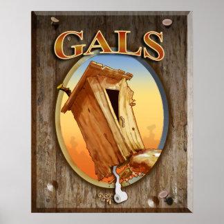 Gal s Restroom Print