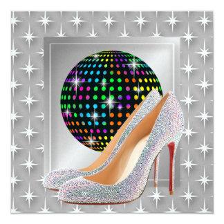 Gala Event / Disco 13 Cm X 13 Cm Square Invitation Card