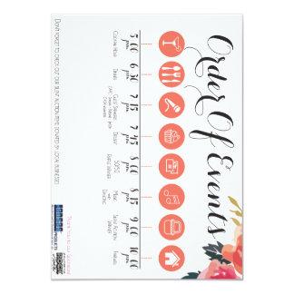 Gala Program 11 Cm X 16 Cm Invitation Card