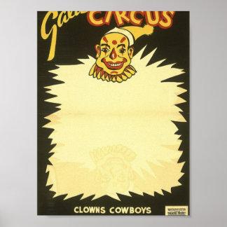 Gala puppet circus Clowns Poster