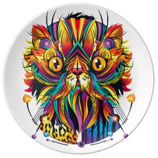 Galactic Cat Porcelain Plates