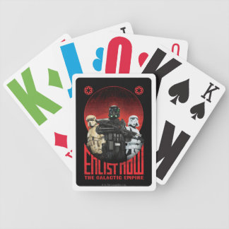 Galactic Empire Enlistment Poster Bicycle Poker Cards