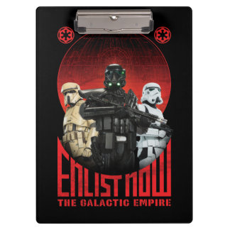 Galactic Empire Enlistment Poster Clipboard
