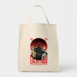 Galactic Empire Enlistment Poster Grocery Tote Bag