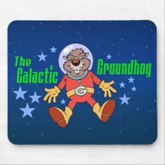 Galactic Groundhog Mouse Pad