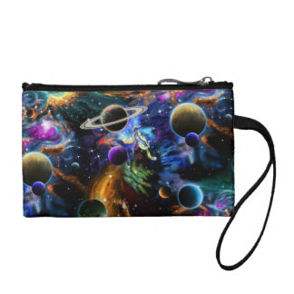 Galactic Nebula and Planets Coin Purse