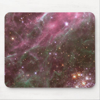 Galactic night sky mousepad