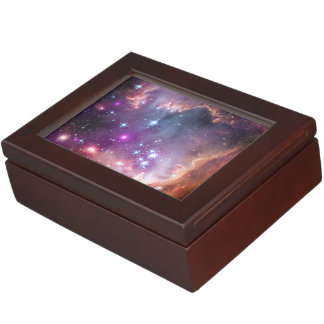 Galactic Outer Space Purple Nebulae Keepsake Box