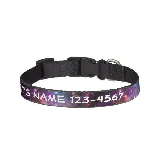 Galactic Outer Space Purple Nebulae Pet Collar