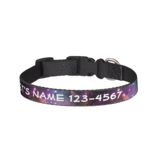 Galactic Outer Space Purple Nebulae Pet Collars