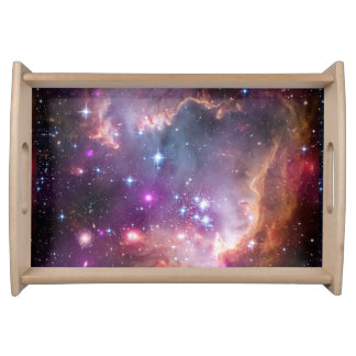 Galactic Outer Space Purple Nebulae Serving Tray