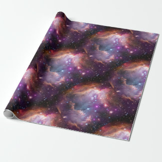 Galactic Outer Space Purple Wrapping Paper