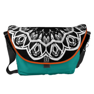 GALACTIC PEACOCK Large Messenger Bag