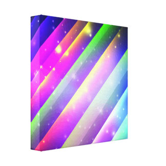 Galactic Space Rays Stretched Canvas Print