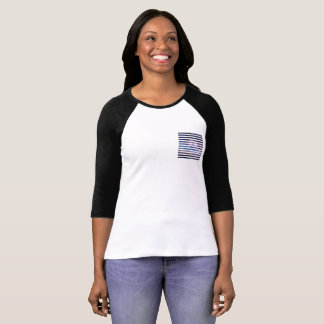 Galactic stripe faux pocket T-Shirt