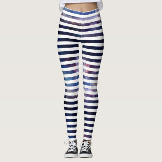 Galactic stripes leggings