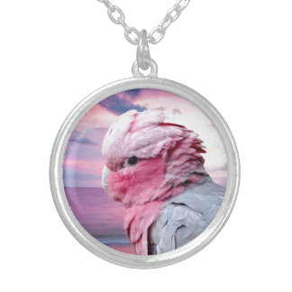 Galah Cockatoo Silver Plated Necklace